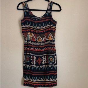 Dresses & Skirts - Vintage Geometric Viscose Dress